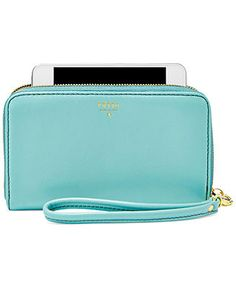 Fossil Sydney Leather Zip Phone Wristlet in Sky Blue (close enough to Tiffany Blue for me...)