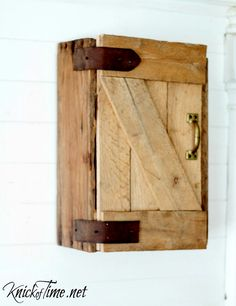When you really, really, really want an rustic BARN DOOR, but don't have room in your house, you can make an easy DIY mini version instead!