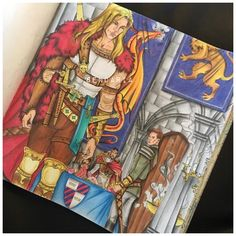 Aedion, Chaol and the king. Throne of glass colouring book. Coloured by Sendaria.