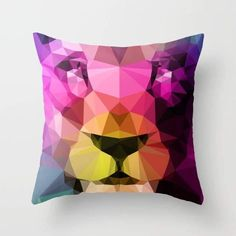 Wild Neon Cushion/Pillow - 16 x 16 / Included
