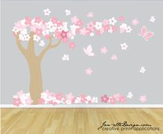 Hey, I found this really awesome Etsy listing at https://www.etsy.com/listing/111286186/tree-wall-decal-cherry-blossom-tree