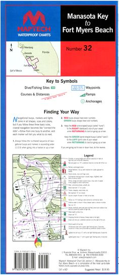 Manasota Key to Fort Myers Beach Waterproof Chart