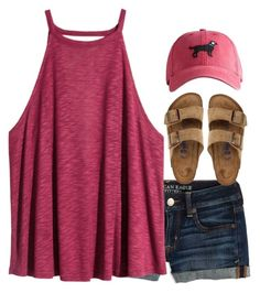 """""""I call dibs"""" by hannahcantrel ❤ liked on Polyvore featuring American Eagle Outfitters, H&M, Birkenstock and Harding-Lane"""