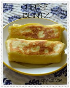 Make these delicious cheese blintz for your favorite weekend breakfast.
