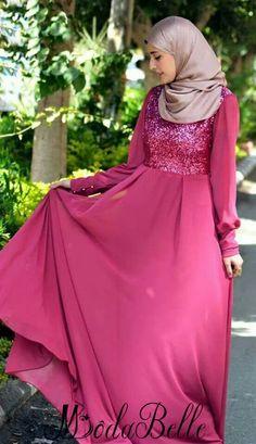 Aliexpress.com : Buy Sequin Chiffon Kaftans Evening Dresses Long Sleeve Muslim…