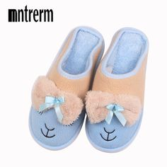 Stone Village Novelty Fun Cartoon Cotton Home Slippers Women Indoor Soft Plush Slippers Christmas Slippers Shoes Women One Size Women's Shoes