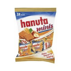 Hanuta minis 18 Individually wrapped hazelnut chocolate sandwiched between two chocolate crisp