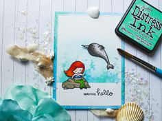 """Colorful Capricorndays: Waving hello....a mermaid card with Lawn Fawn """"mermaid for you"""""""