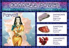 Goddess Power: Parvati! Magick Book, Wiccan Spells, Crystals And Gemstones, Stones And Crystals, Chakra Healing Music, Angel Guidance, Crystal Grid, Gods And Goddesses, Natural Crystals