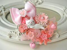 Hair Clip kawaii fairy kei lolita accessory white door DinaFragola, $42.00