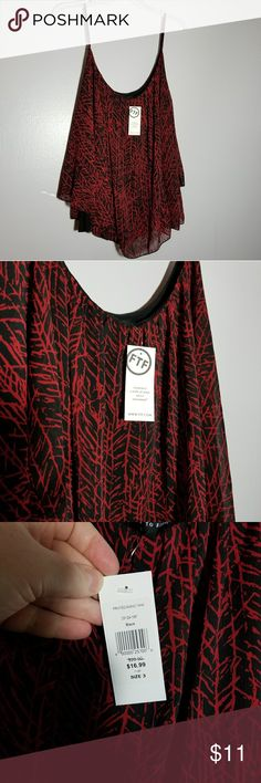 Red Black plus size Fashion to Figure swing top Red Black plus size Fashion to Figure swing top. NET. Size 3 / 3x Fashion to Figure Tops Tank Tops