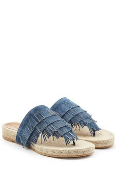 Denim Sandals | Sonia Rykiel