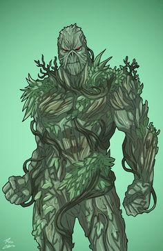 Swamp Thing (Earth-27) commission by phil-cho.deviantart.com on @DeviantArt