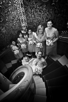 Bride portrait in the spiral staircase, Cardiff Castle