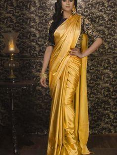2706b513 Designer Satin Silk saree with Jaquard Blouse