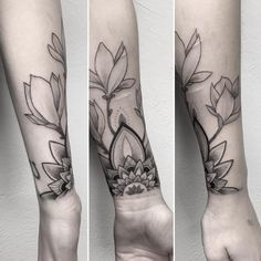 "hell-patrol: "" thanks ronja #mandala #ornament #magnolia #flowers #dotworktattoo #dotwork #stippling #vegan #themagicsociety #stuttgart #karlsruhe #pforzheim (hier: The Magic Society) """