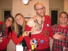Ugly Christmas Sweater Nipple