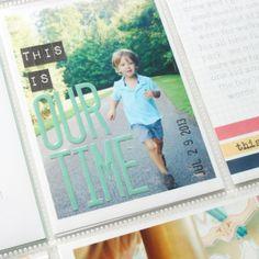 stephanie makes: gossamer blue: project life week 33