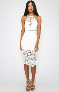 Gilly Dress - White