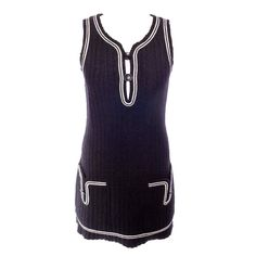 Chanel Vintage lille sport dress. | From a collection of rare vintage day dresses at https://www.1stdibs.com/fashion/clothing/day-dresses/