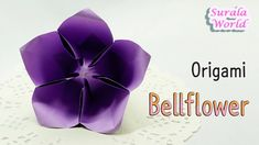 [Surala's Origami Class] Origami - Bellflower, Balloon Flower (How to make a paper flower, blossom) (Created by Surala/ ⓒ Surala World all rights reser. Origami Star Box, Origami And Kirigami, Origami Easy, Origami Paper, Origami Hearts, Oragami, Origami Instructions, Origami Tutorial, Flower Tutorial