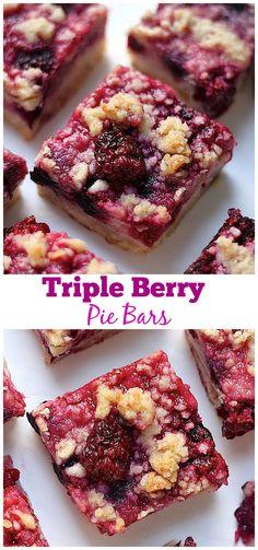 Triple Berry Pie Bars