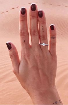 Delicate and beautiful, this diamond engagement ring in platinum features a half circle of sparkling petite micropavé diamonds to complement your center diamond. Cool Finger Tattoos, Finger Tattoo For Women, Finger Tattoo Designs, Finger Tats, Toe Tattoos, Dainty Tattoos, Body Art Tattoos, Small Tattoos, Tatoos