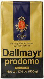 Dallmayr Gourmet Coffee, Prodomo (Ground), 17.6-Ounce Vacuum Packs (Pack of 2)