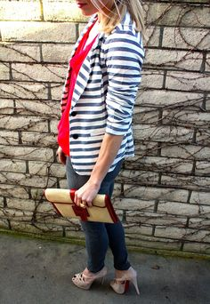 Great spring look!  Style, Caffeinated: Nod to Nautical