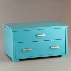Turquoise Wooden Jewelry Box