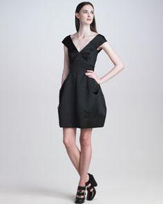 B1W7B Marc Jacobs Off-Shoulder Duchesse Satin Dress