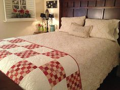 WE'RE HAVING A CYBER MONDAY SALE! Monday only - 25% off our entire Etsy Store! Finished Vintage Rouge Bed Runner by myreddoordesigns on Etsy, $50.00