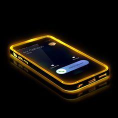 Original Urcover® Apple iPhone 6 / 6s Hülle Bumper mit [Flash Funktion] Handyhülle eingehender Anruf/SMS LED Flash Light Blink Function [Grün] mit TPU Rückseite Cover Case Etui Schutzhülle für TOP Handyschutz