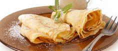 Kokospalatschinken (Rezept, Backen, Mehlspeise, Nachspeise, Pfannkuchen) Snack Recipes, Snacks, Apple Pie, Chips, Desserts, Ethnic Recipes, Food, Pies, Vanilla Cream