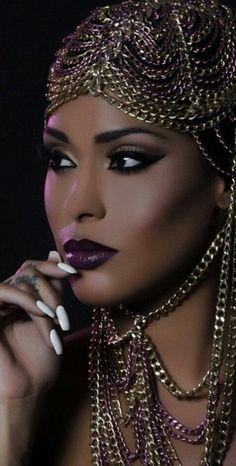 I love her makeup #Smokey Eye Makeup for Brown Eyes - Makeup for Brown Skin