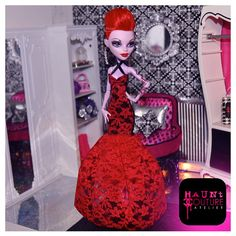 Monster High Scarlet Fever Operetta gown by HauntCoutureAtelier, $20.00