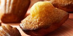 Madeleines à la vanille, poudre d'amande et miel