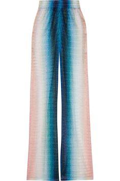 MISSONI Crochet-knit wide-leg pants. #missoni #cloth #pants