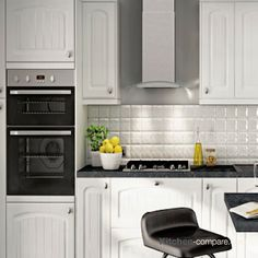 Kitchen Compare works with many big brands such as B&Q to ensure that you get the best price for your kitchen renovation Ivory Kitchen, Country Kitchen Farmhouse, Arched Doors, Shaker Kitchen, Tongue And Groove, Kitchen Cabinets, John Lewis, Centre, Kitchens
