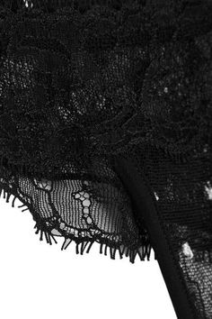 La Perla - Sparkles Stretch Leavers Lace And Swiss-dot Tulle Thong - Black - 1