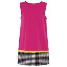 Lisa Perry Pink Sleeveless Ginham Hem Dress £72.00 reduced to £36