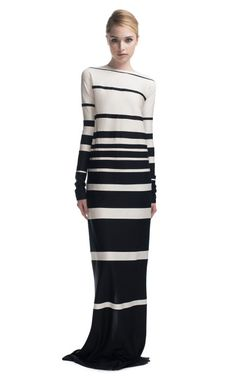 Panelled Stripe Silk Jersey Dress by MarcJacobs