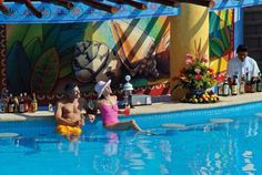 Swim-Up Bar Swim Up Bar, Swimming, Spaces, Outdoor Decor, Bahia, Swim