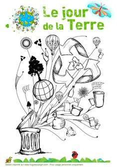 Le Jour De La Terre 04, page 4 sur 35 sur HugoLescargot.com French Language Lessons, French Language Learning, French Lessons, Art Lessons, Earth Day Crafts, Earth Day Activities, French Classroom, How To Speak French, Teaching French