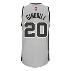 San Antonio Spurs Adidas NBA Manu Ginobili  20 Alternate Swingman Jersey ( Gray.) fc3cbe013
