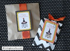 Dog Themed #Halloween Free Party Printables by Amy Locurto at LivingLocurto.com