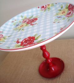 Vintage inspired cake stand...love.