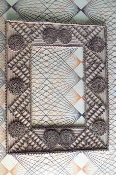 Hand-Made Corrugated Cardboard Photo Frame.