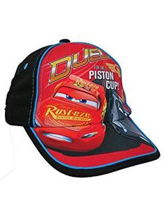 Disney Toddler Boys Cars Lightning McQueen Cotton Baseball Cap Age 2-5 Grey Blue