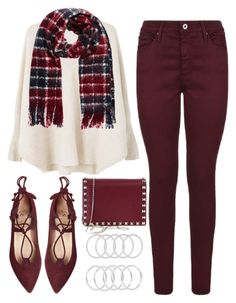 """""""Untitled #689"""" by ssm1562 ❤ liked on Polyvore featuring MANGO, AG Adriano Goldschmied and Valentino"""